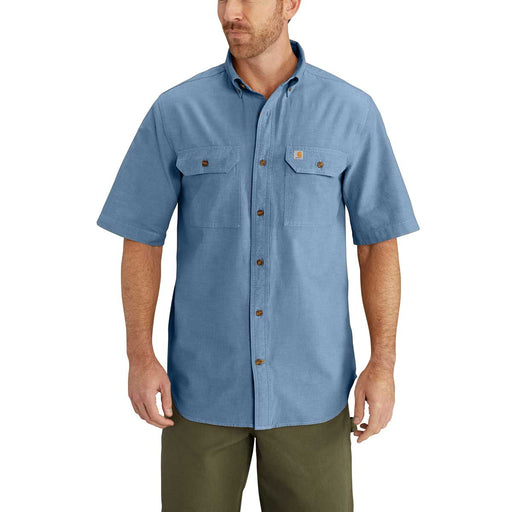 Short-Sleeve Chambray Shirt