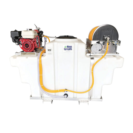 "Kings Sprayer SpaceSaver Skid 300 Gal w/ 10 gpm Pump & Electric Reel w/ 300' 1/2"" ID Hose"