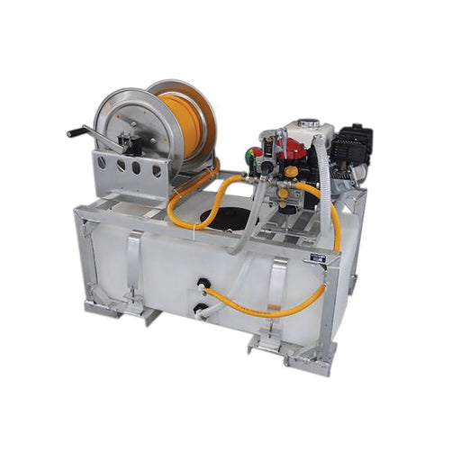 Kings Sprayer Low Profile Skid Sprayer 50 Gal with 10 gpm Diaphragm Pump & Manual Hose Reel