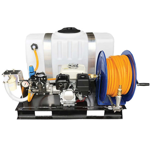 Kings Sprayer Steel Skid Sprayer 50 Gal with 5 gpm Diaphragm Pump & Manual Hose Reel