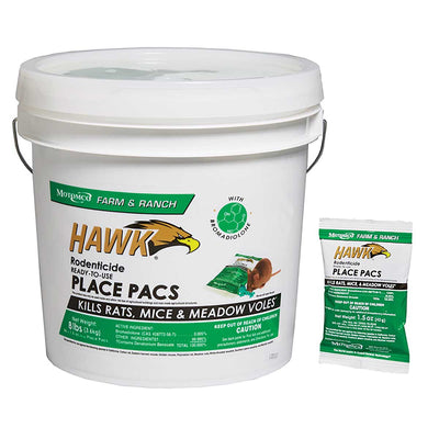 Hawk Rodenticide Ready-to-Use Place Pacs