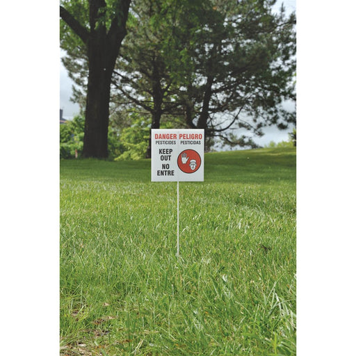 Plastic Stakes for Pesticide Application/Warning Signs