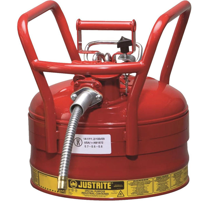 2-1/2-gal. Justrite Type-II AccuFlow™ DOT Safety Can