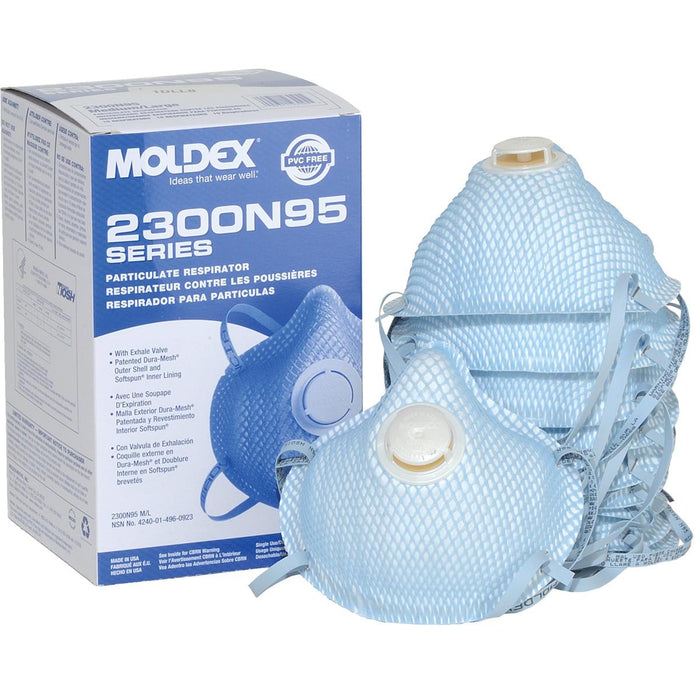 MOLDEX 2300 N95 Respirators With Exhale Valve
