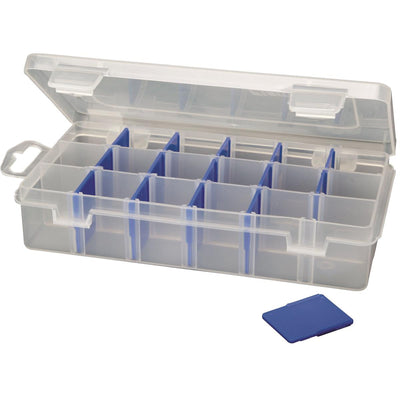Small Parts Organizer With 3 to 18 Compartments