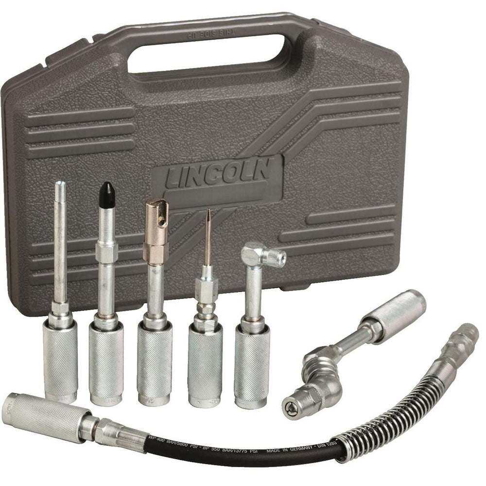 Heavy-Duty, 7-pc. Grease Gun Accessories Kit