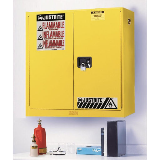 Flammable Liquid Safety Cabinet With Manual-Closing Doors, 20 gal.