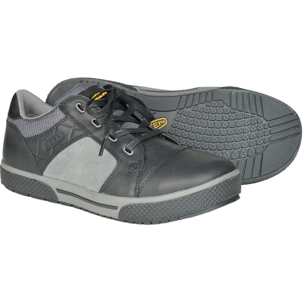 KEEN Utility Destin Steel Toe Low Height Shoes in Black/Gargoyle