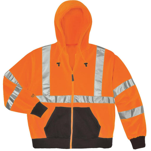 Tingley ANSI 107 Class 3 Hi-Vis Polyester Hooded Sweatshirt