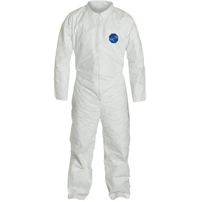 DUPONT Unhooded Tyvek® Coveralls with Open Ankles and Wrists