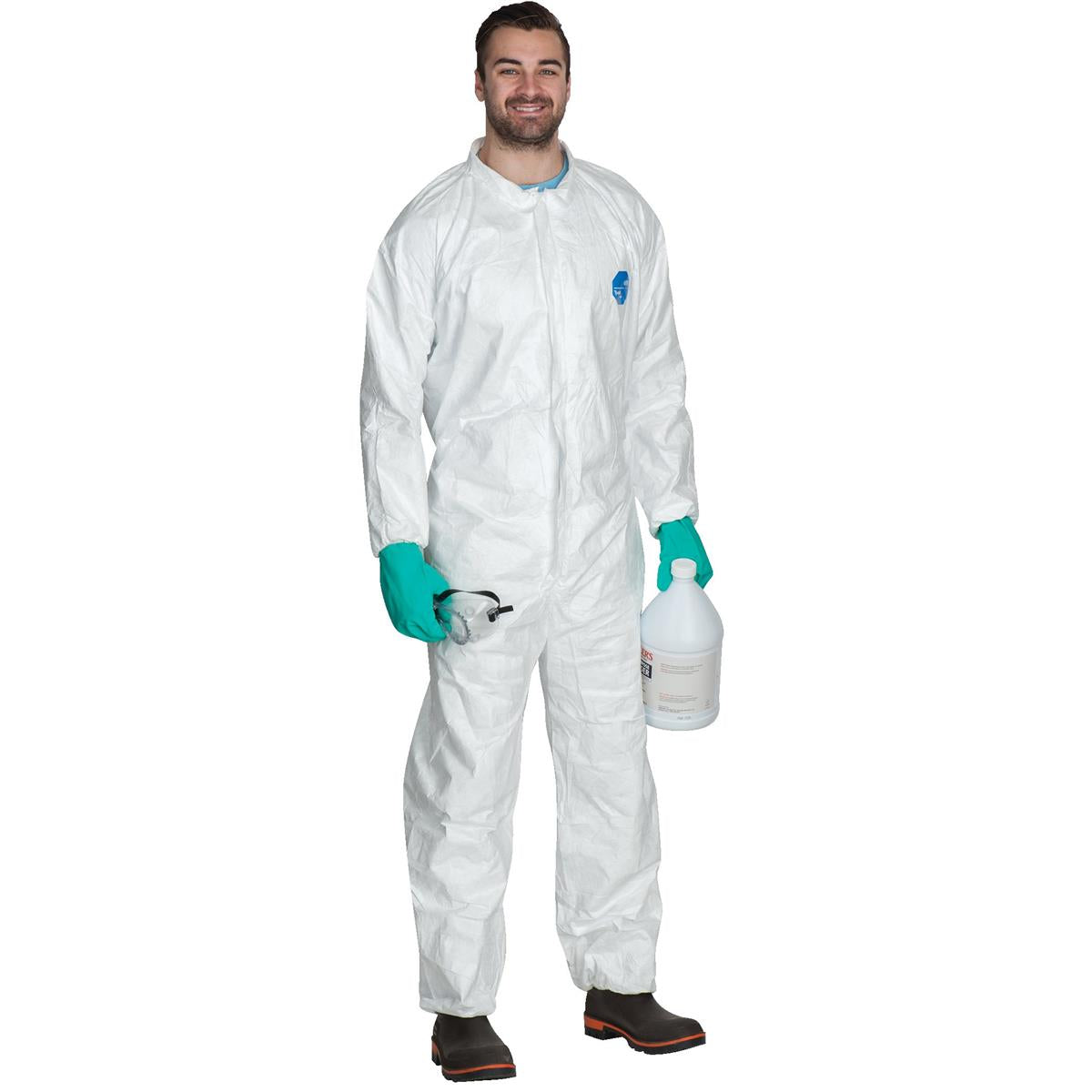 DUPONT Unhooded Tyvek® Coveralls with Elastic Wrists and Ankles