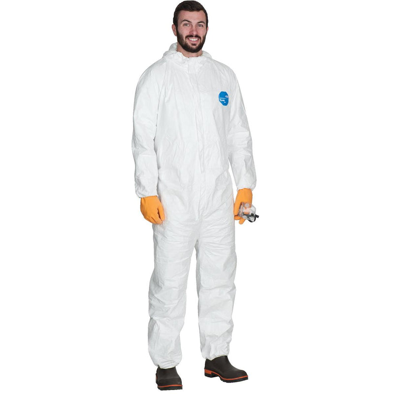 DUPONT Hooded Tyvek® Coveralls with Elastic Wrists and Ankles