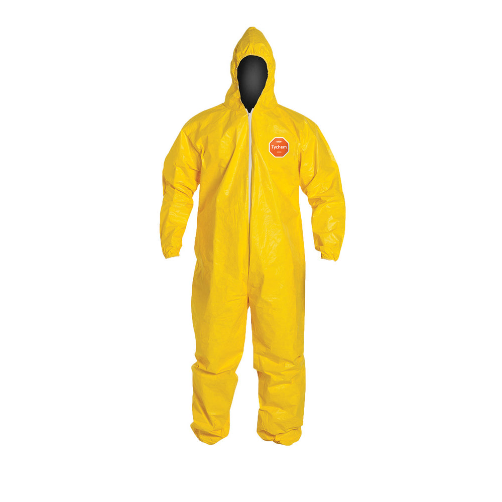 Tychem® QC Coveralls with Elastic Cuffs and Serged Seams