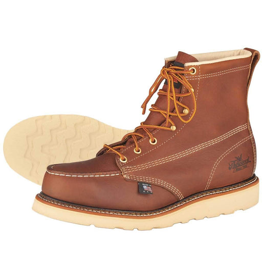 "Thorogood American Heritage 6""H Wedge Sole Moc Toe Boots,  Steel Toe"
