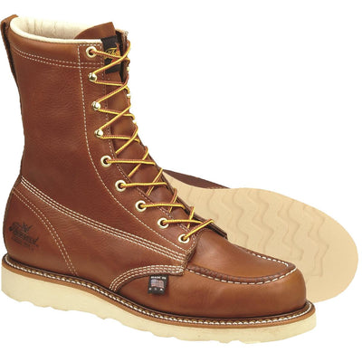 "Thorogood American Heritage 8""H Wedge Sole Moc Toe Boots, Plain Toe"