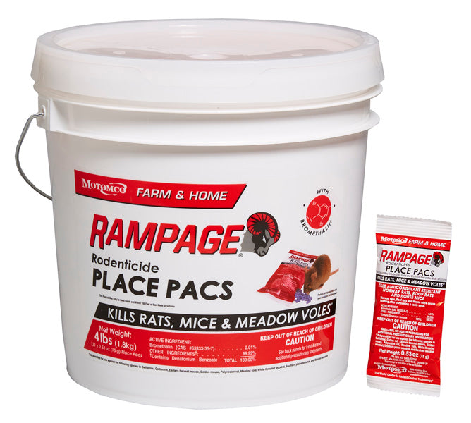 Rampage Rodenticide Place Pacs