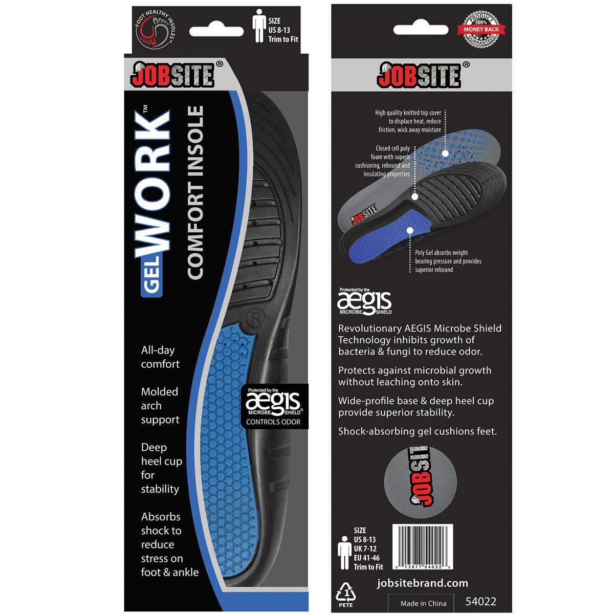 JobSite Work Insoles, Mens