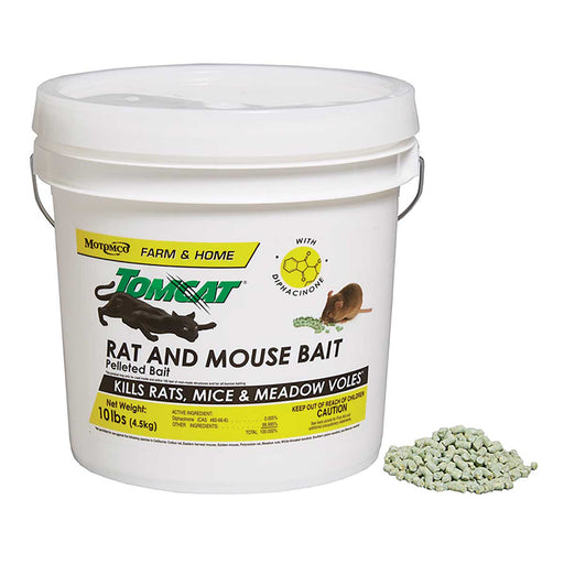 Tomcat Rat and Mouse Bait, 10-lb. Pkg. of Pellets