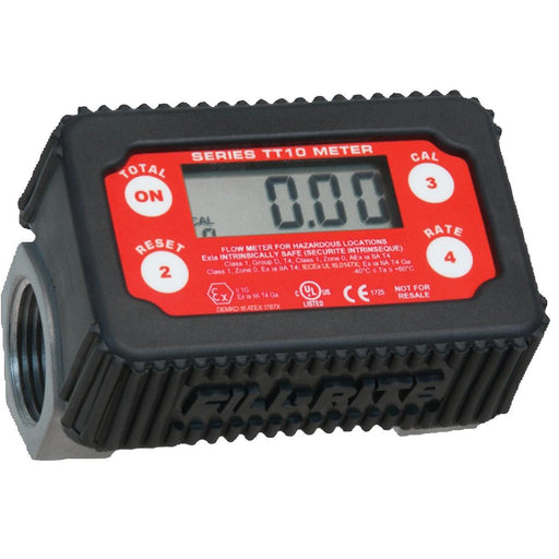 Fill-Rite Nickel-Plated Digital In-Line Turbine Meter