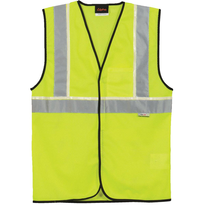 Alpha Workwear Classic Class 2 Hi-Vis Glow-in-the-Dark Safety Vest