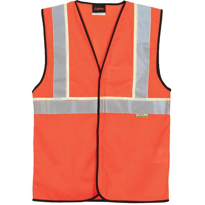 Alpha Workwear Classic Class 2 Hi-Vis Glow-in-the-Dark Vest