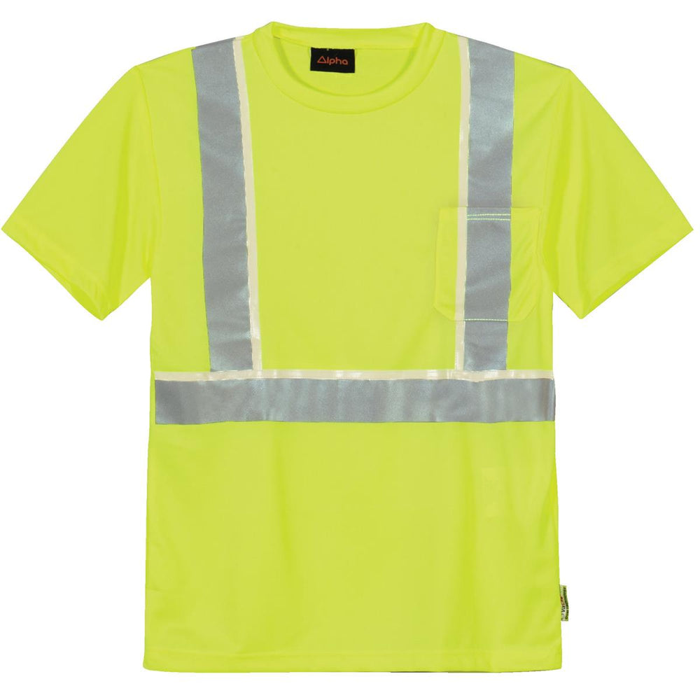 Alpha Workwear Class 2 Glow-in-the-Dark Hi-Vis T-Shirt
