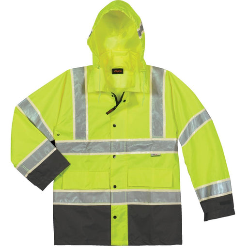 Alpha Workwear Class 3 Glow-in-the-Dark Rain Jacket