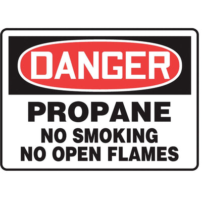 """Danger - Propane..."" Warning Sign"
