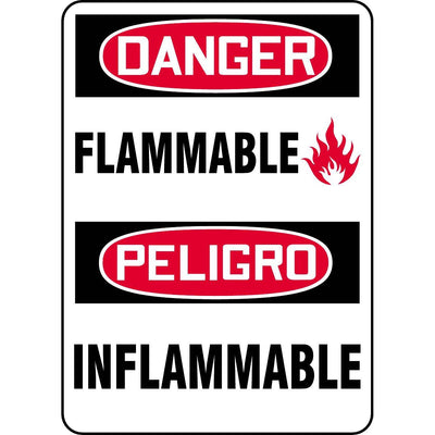 Bilingual Danger / Flammable Sign