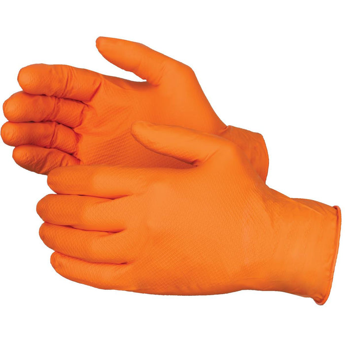 6-mil Orange Nitrile Gloves with Grippaz™ Technology