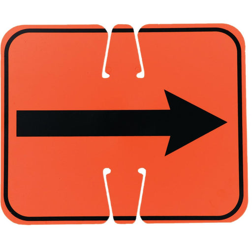 Reversible Arrow Traffic Cone Sign