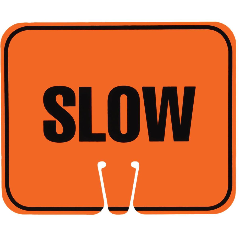 """Slow"" Traffic Cone Sign"