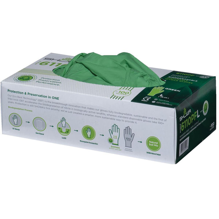 4-mil Biodegradable Nitrile Gloves