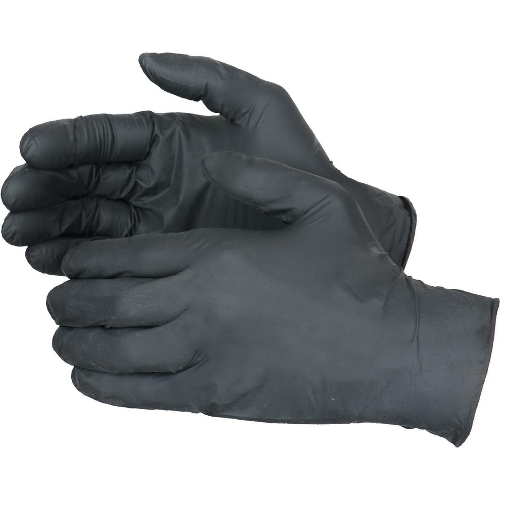 4-mil Biodegradable Nitrile Gloves, Black