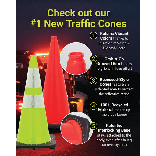 Revolution Series Non-Reflective Traffic Cones