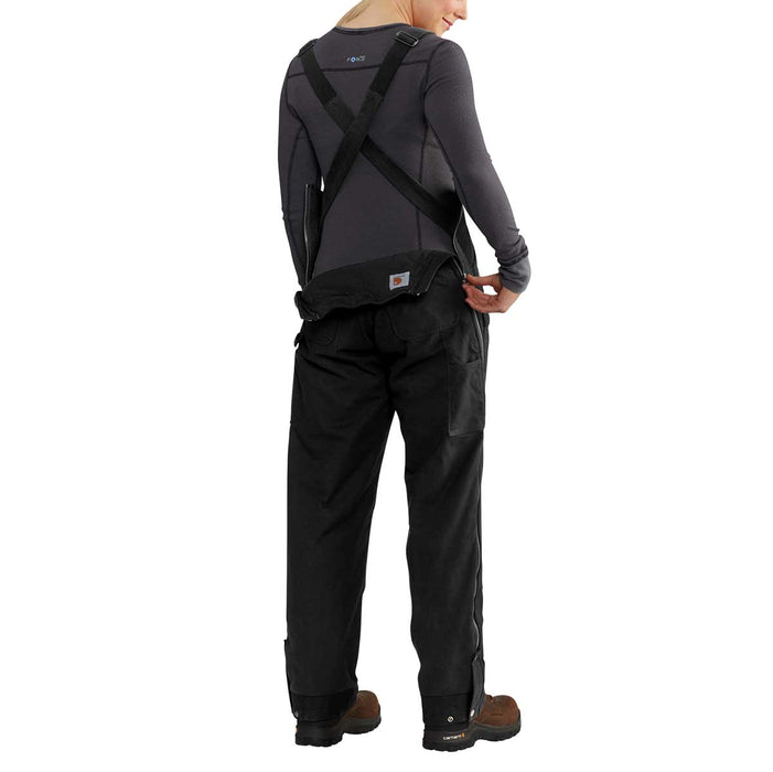 Carhartt 102740 Women's Full Swing® Cryder Bibs, Black