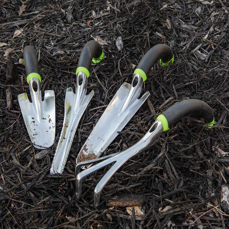 Ergonomic 4-Piece Garden Tool Set