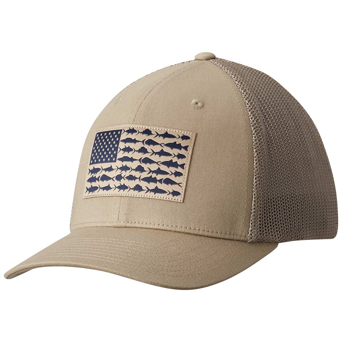 Columbia PFG Mesh Fish Flag Ball Cap