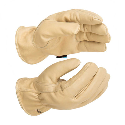 Kinco HydroFlector™ Lined Water-Resistant Premium Grain Cowhide Driver Gloves