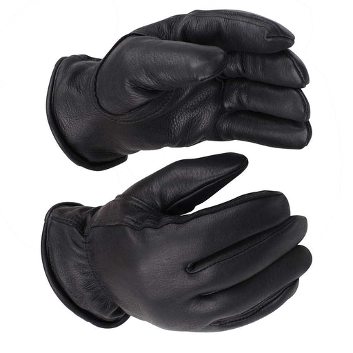 Kinco Lined Black Premium Deerskin Driver Gloves