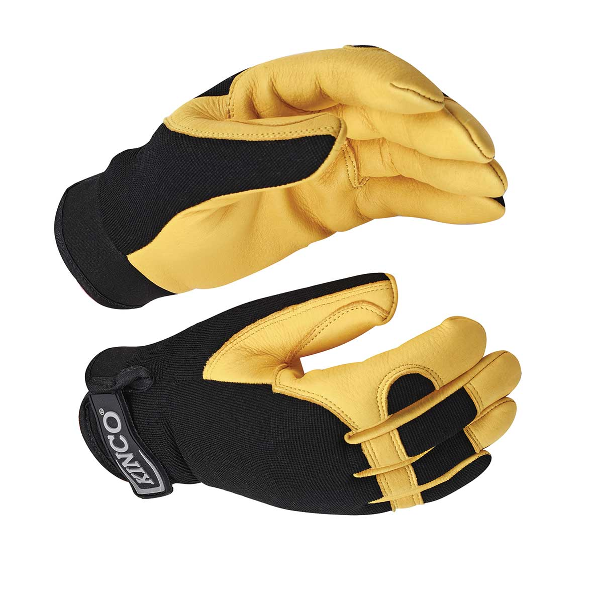 KincoPro™ Grain Deerskin & Synthetic Hybrid Gloves with Pull-Strap