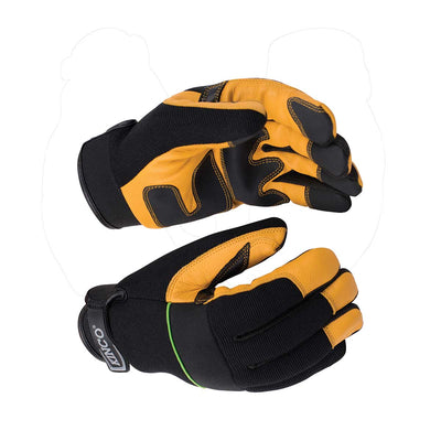 KincoPro™ Premium Grain Goatskin & Synthetic Hybrid Gloves with Pull-Strap