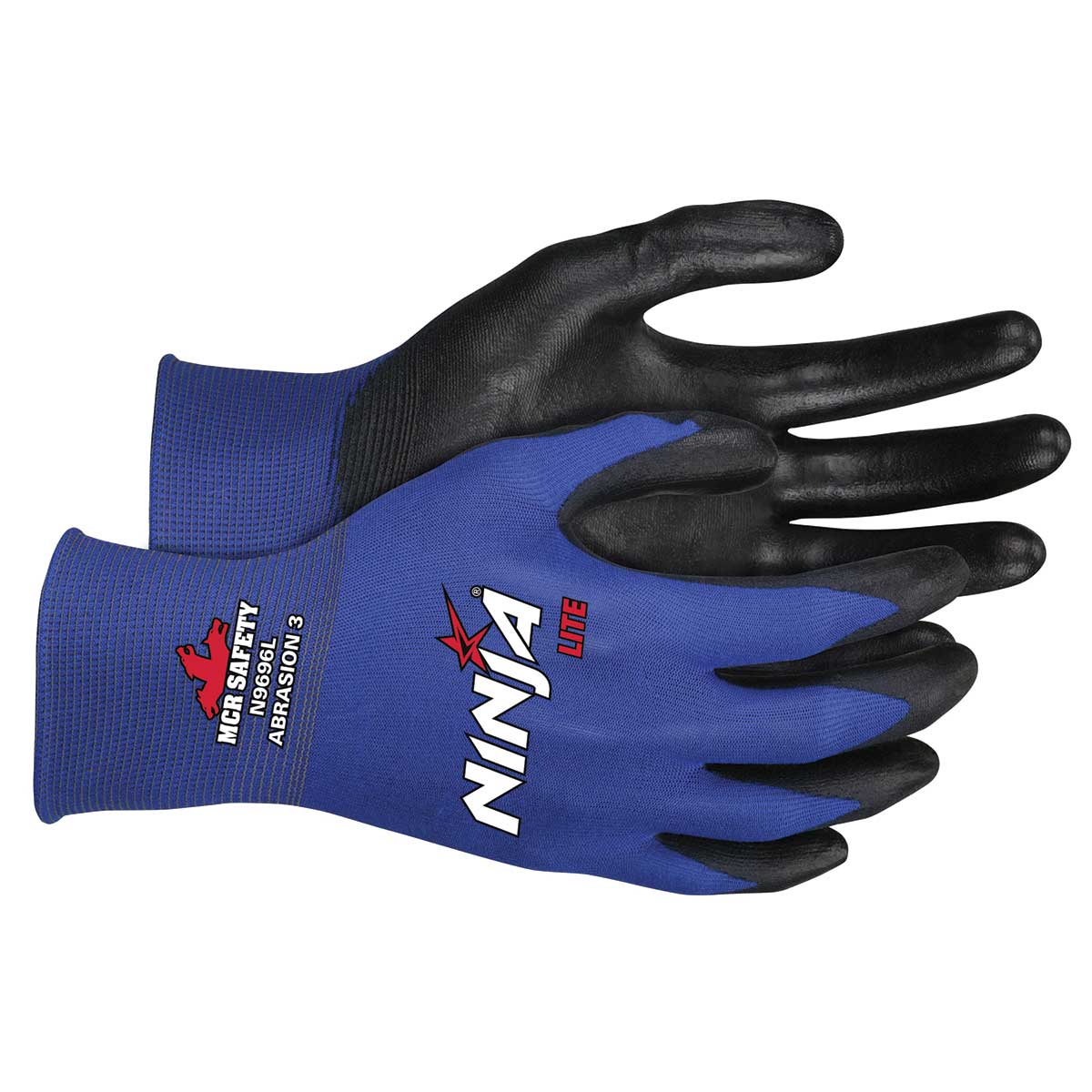 Ninja® Lite 18 Gauge Blue Nylon Shell PU Coated Glove