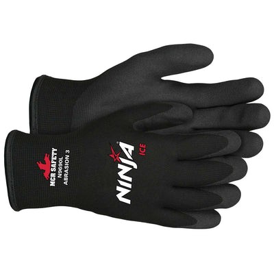 Ninja® Ice 15 Gauge Black Nylon Coated Glove