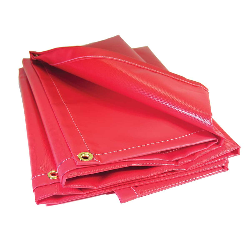 Mauritzon Red 13 oz. Flame Retardant Vinyl Salvage Cover