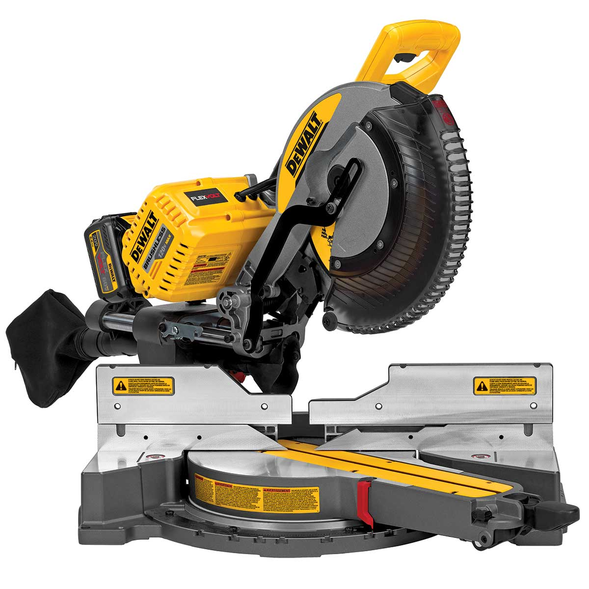 DeWalt FLEXVOLT 12In 120V MAX* Double Bevel Compound Sliding Miter Saw Kit with Cutline™ Blade Positioning System System
