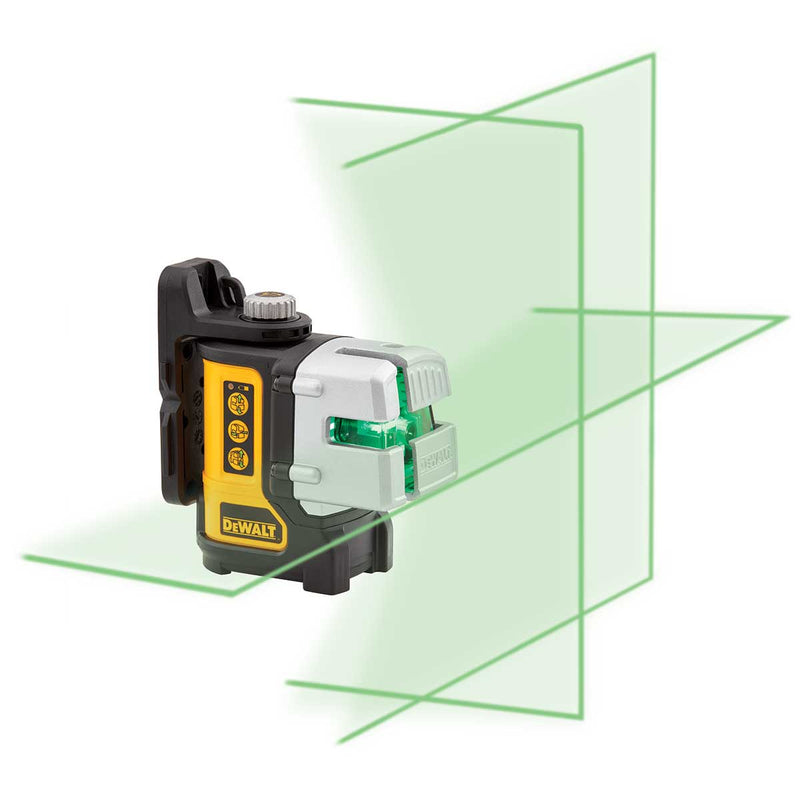 DeWalt Self Leveling 3 Line Green Beam Laser Level