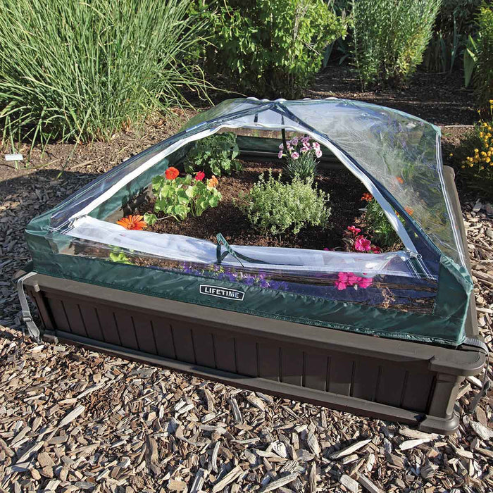 Lifetime Raised Garden Bed Kit (2 Beds, 1 Enclosure)