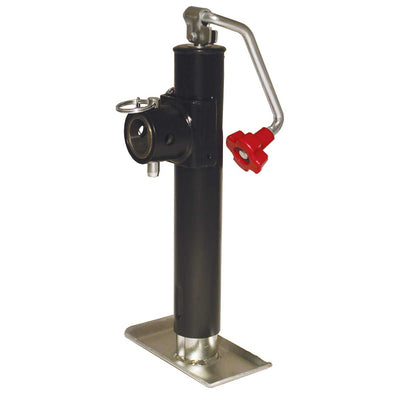 "Top Wind Weld Collar Trailer Jack - 10"" Lift, 2000lb Capacity"