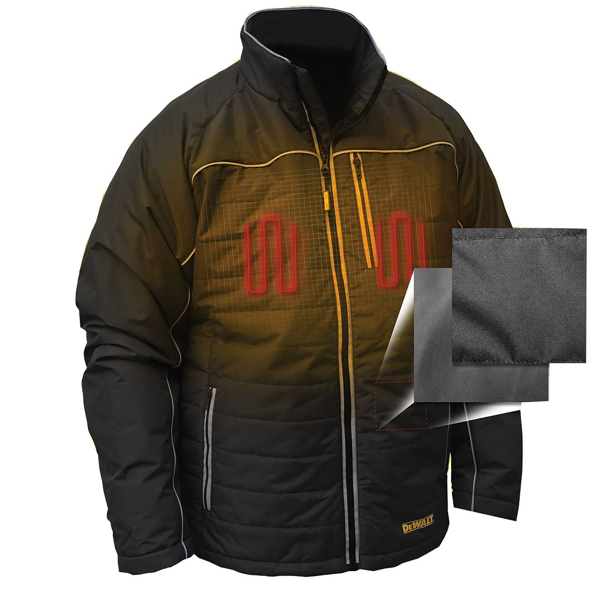 DEWALT® Heated Black Quilted Soft Shell Jacket